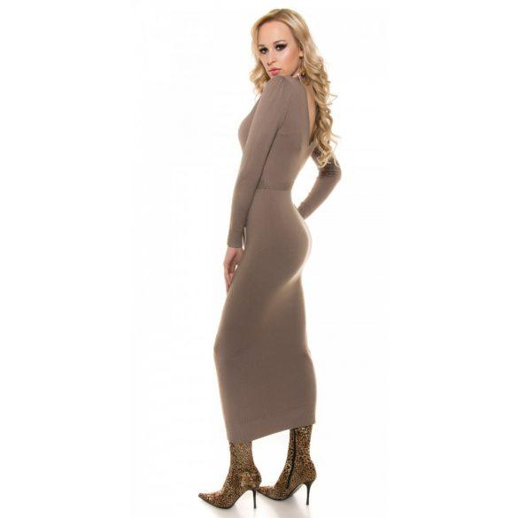 Barna kötött hosszú ruha