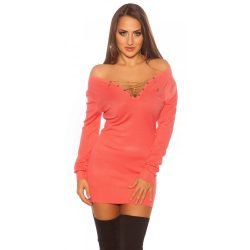 Trendy Koucla pullover with chain and rhinestones