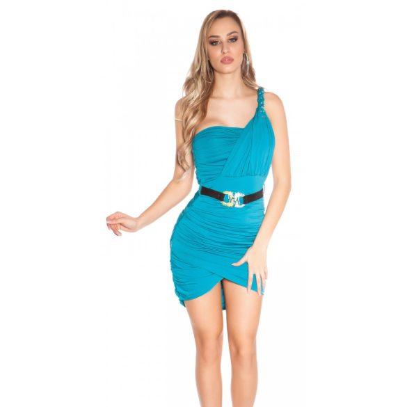 Kék női ujjatlan ruha pánttal