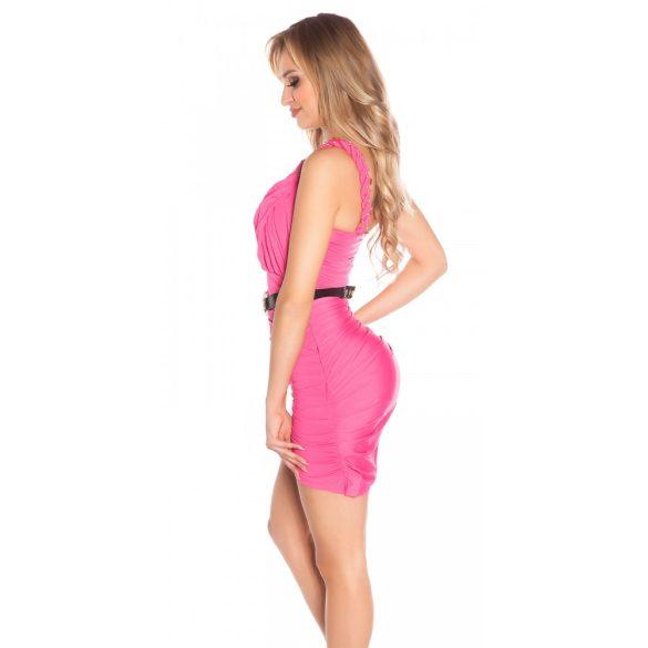 Pink női ujjatlan ruha pánttal