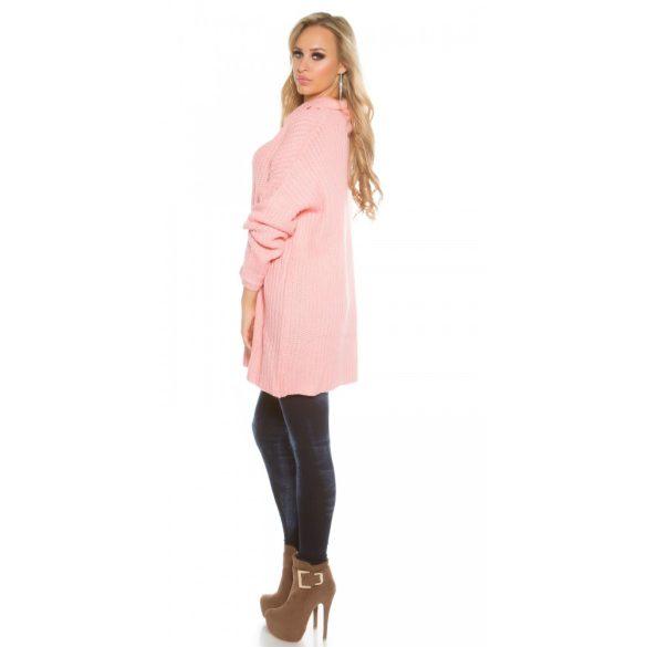 Rózsaszín női kötött lezser tunika