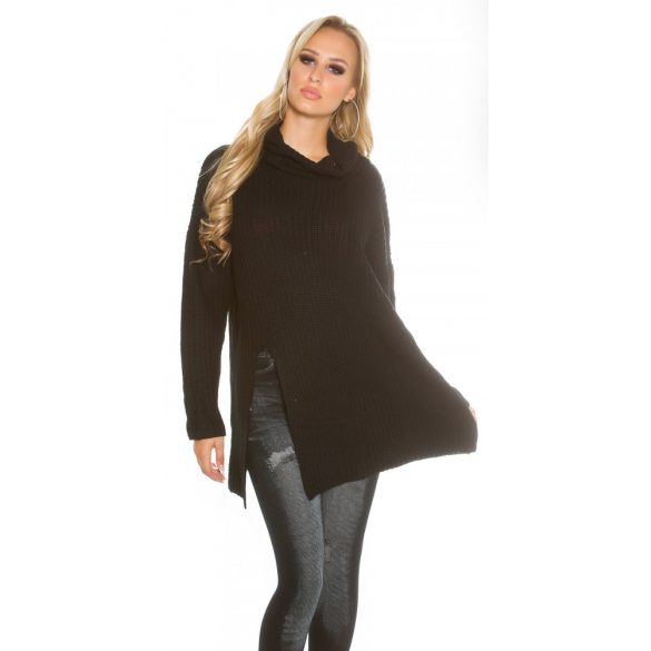 Fekete női kötött lezser tunika