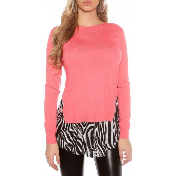 Korall női 2 az egyben pulóver