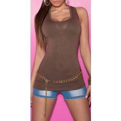 Barna női trikó