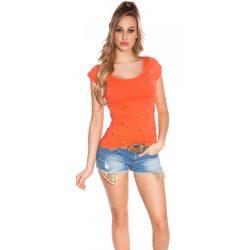 Korall női rövid ujjú póló