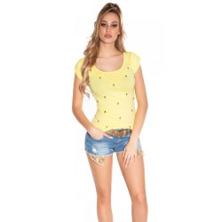 Sárga női rövid ujjú póló