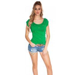 Zöld női rövid ujjú póló