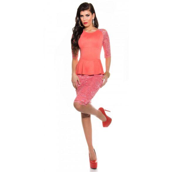 Rózsaszín női csipke ruha