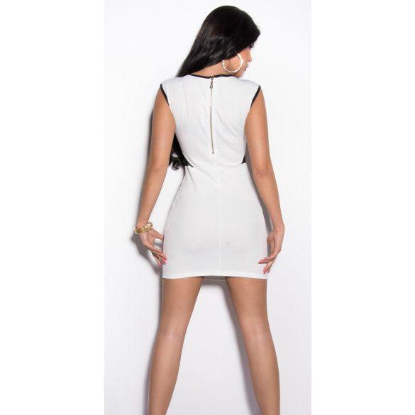 Fehér női ujjatlan karcsúsított ruha