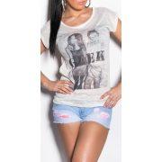 Barack női póló nyomott mintával