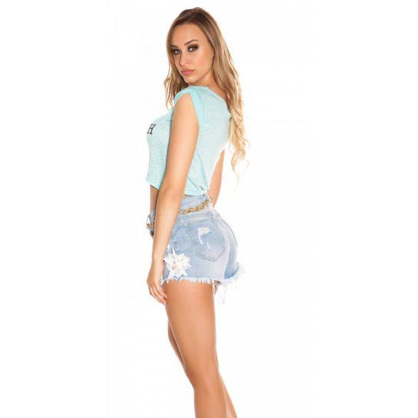 Menta női rövid felaratos póló
