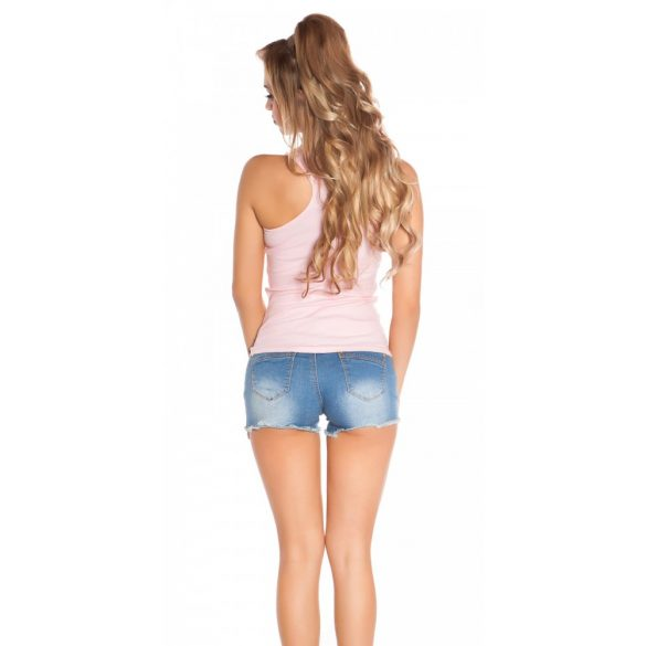 Bézs női strasszköves felső