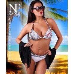 Fehér állatmintás női bikini NAOMI