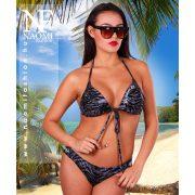 Fekete állatmintás női bikini NAOMI