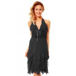 Fekete nyakban köthető női ruha