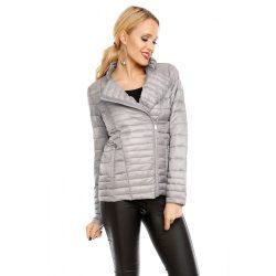 Női steppelt ezüst színű kabát