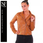 Barna színű bőrhatású kabát Naomi
