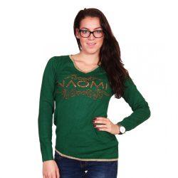 Zöld női pulóver Naomi