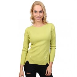 Zöld női bordás anyagú felső