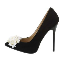 Fekete színű női tűsarkú cipő