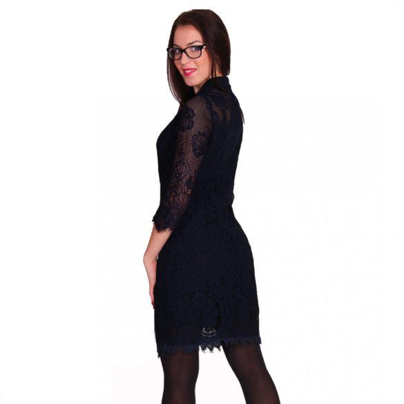 Fekete női galléros csipkeruha